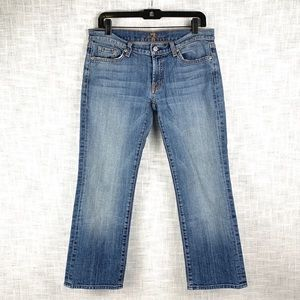 7 For All Mankind crop-length bootcut jeans, sz 31